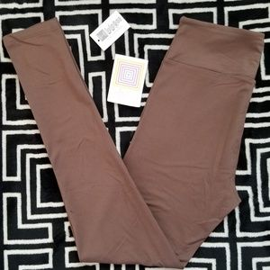 NWT LuLaRoe OS Solid Brown Leggings Buttery Soft